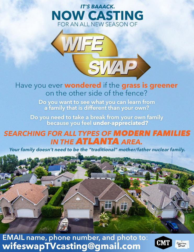 casting call for wife swap