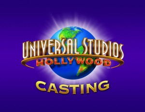 Audition information for Universal Studios