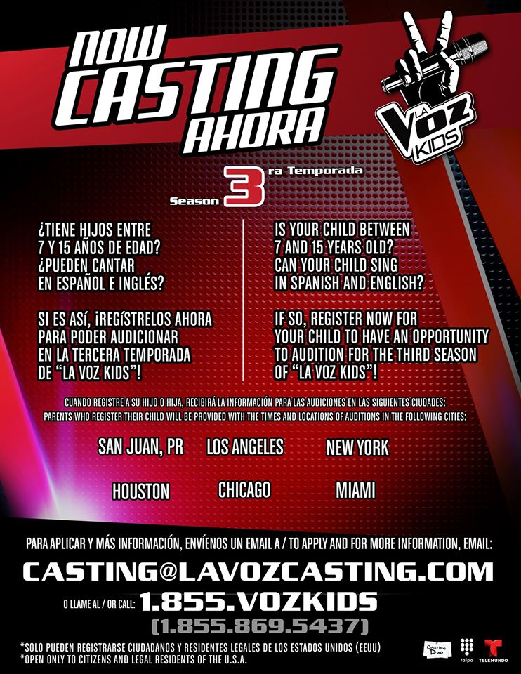La Voz Kids casting call coming for 2015 season
