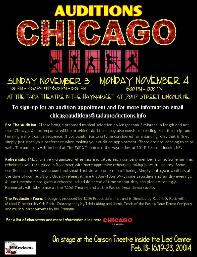 Chicago audition flyer