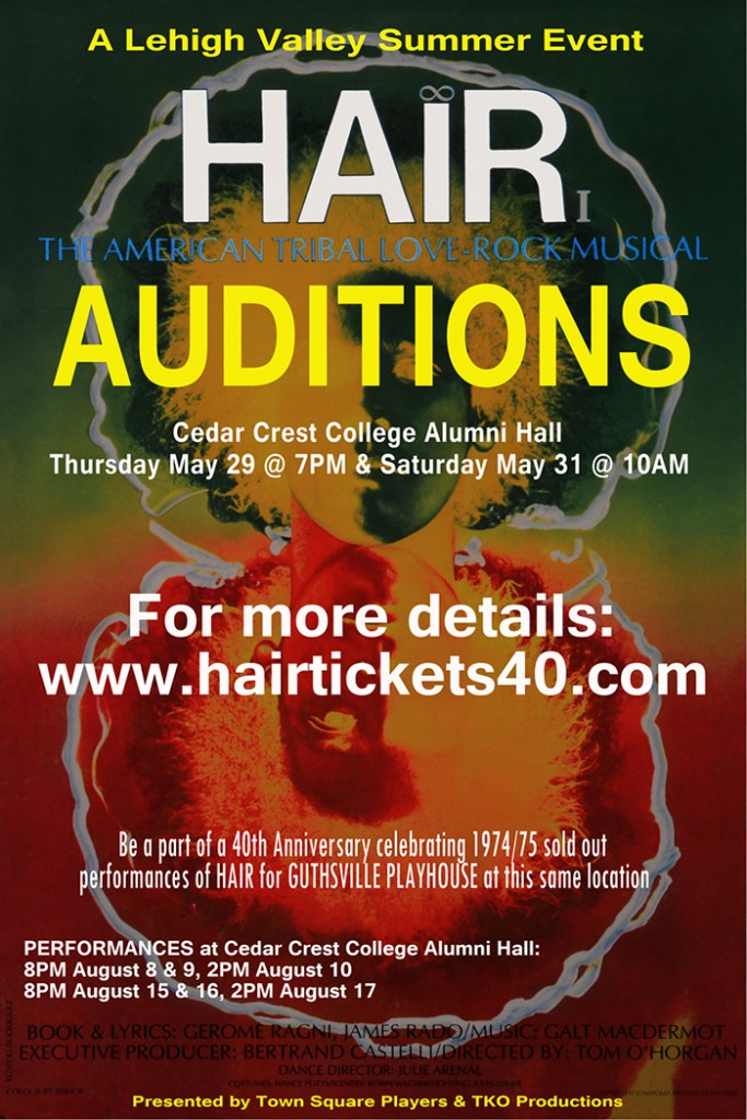 Auditions for Hair flyer