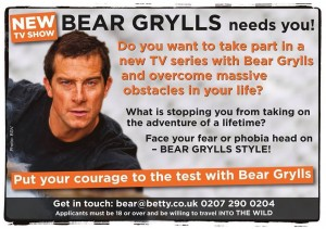 New Bear Grylls Survival Show having an online casting call worldwide
