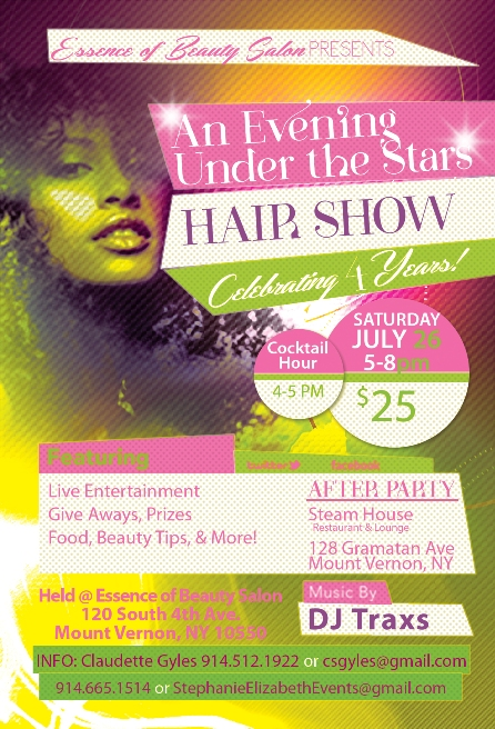 casting call flyer for the Essence of Beauty Hair show in NYC