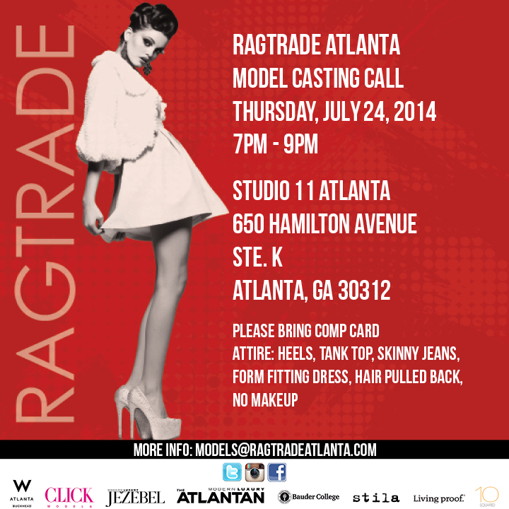 Casting call for models in Atlanta for fashion show