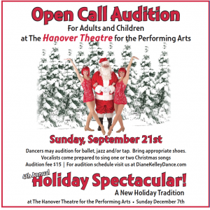 Auditions for Christmas show in MA