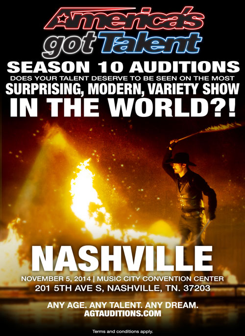 AGT auditions are coming to Nashville