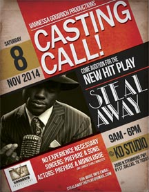 """casting call for """"Steal Away"""", a stage play"""