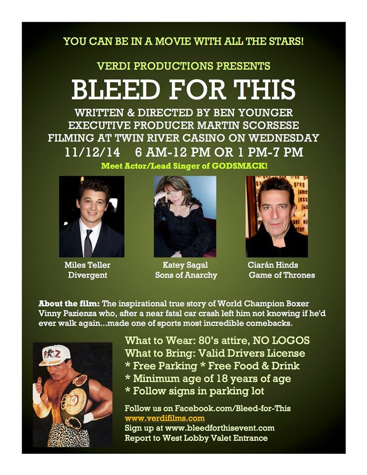 bleed for this in Boston Casting Call flyer