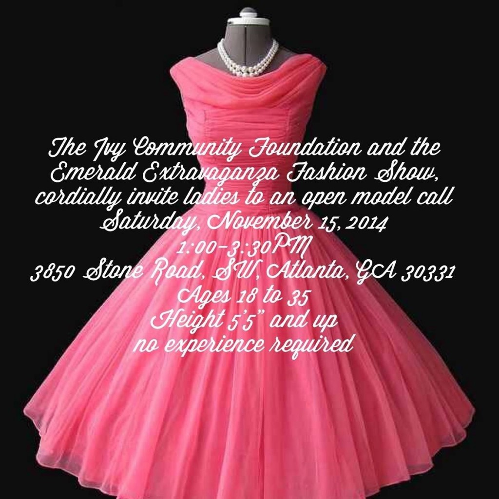 Model Casting in Atlanta for Community Fashion Show | Auditions Free