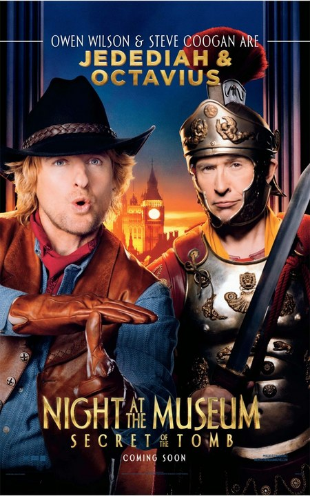 Owen Wilson Night at the Museum 3 poster
