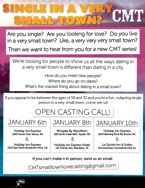 New CMT series casting call for people from the South