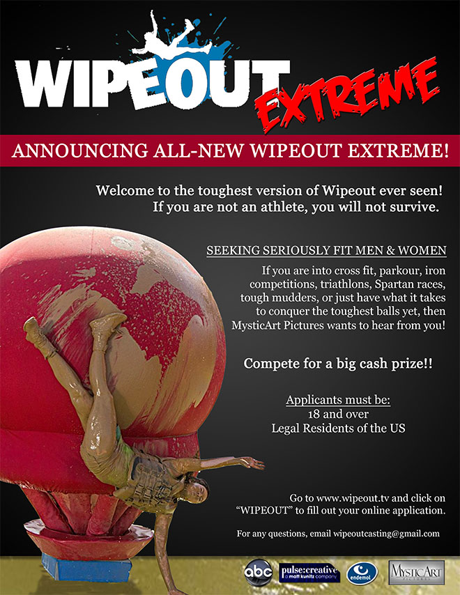 casting call for athletes for Wipeout Extreme