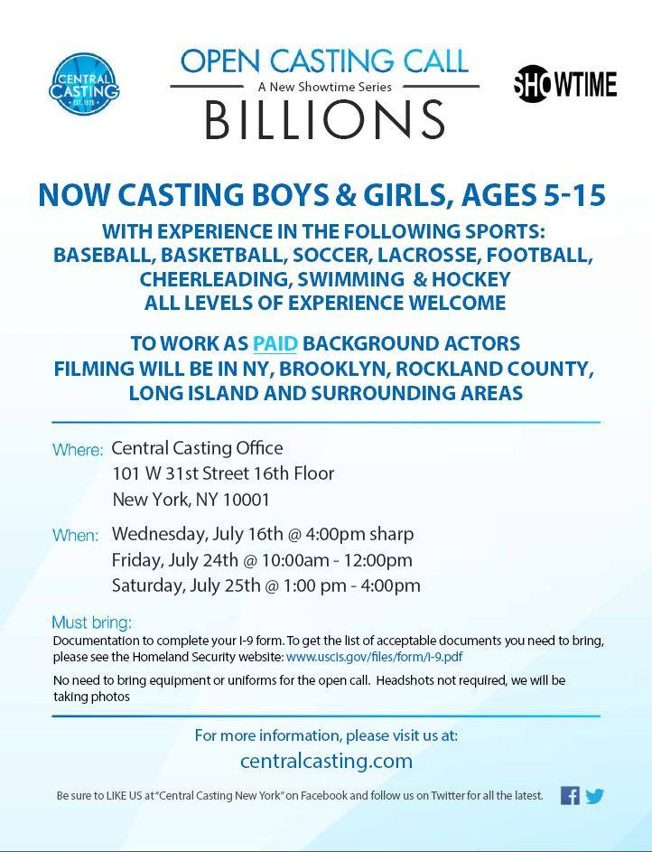 casting kids in NYC