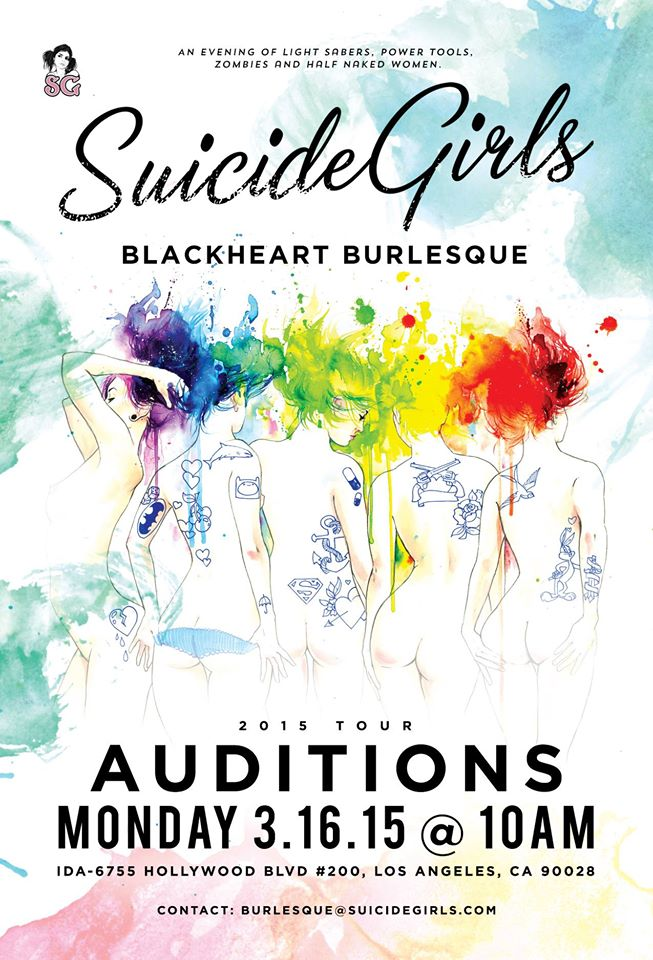 Auditions for Suicide Girls dance troupe coming to Los Angeles