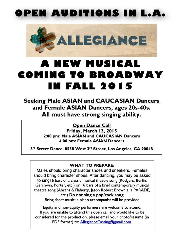 Auditions for New Broadway Musical \
