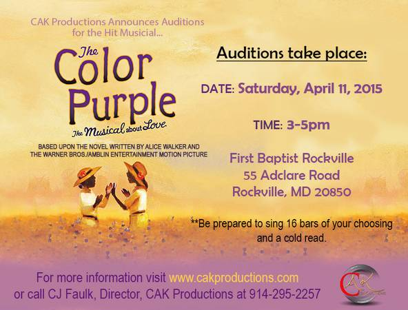 DC auditions for The Color Purplr