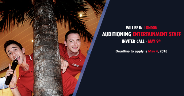 Carnival Cruises Hosts Techs And Youth Staff Casting Call In London  Auditi