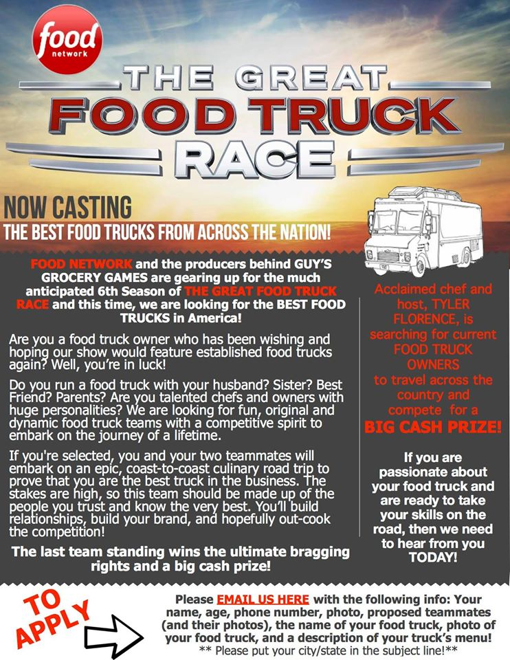 The great food truck race casting 2015 / 2016