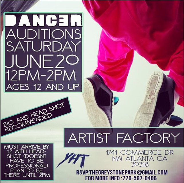 Auditions for teen background dancers in atlanta auditions free