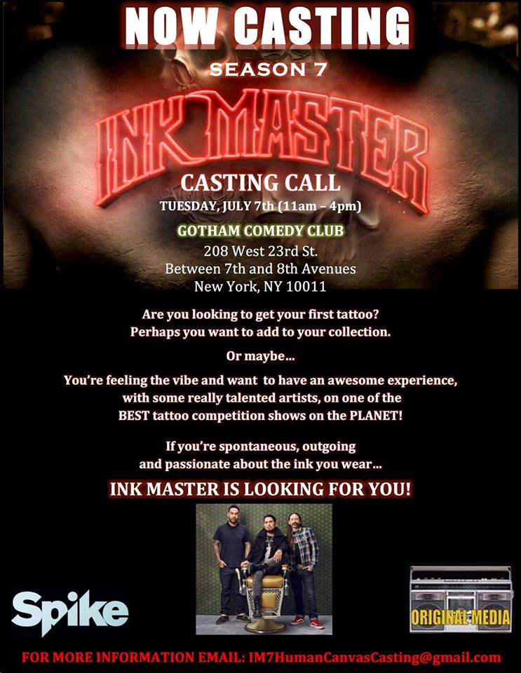 Ink Masters open call NYC