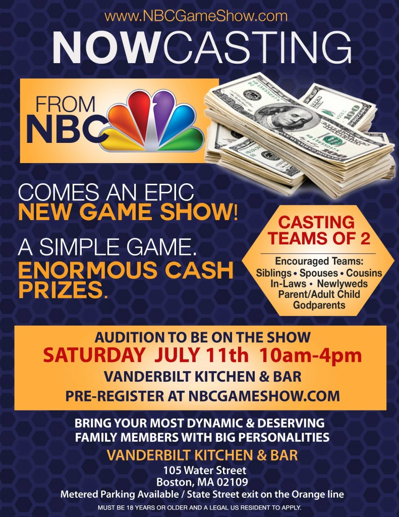 New NBC game show open casting call in Boston