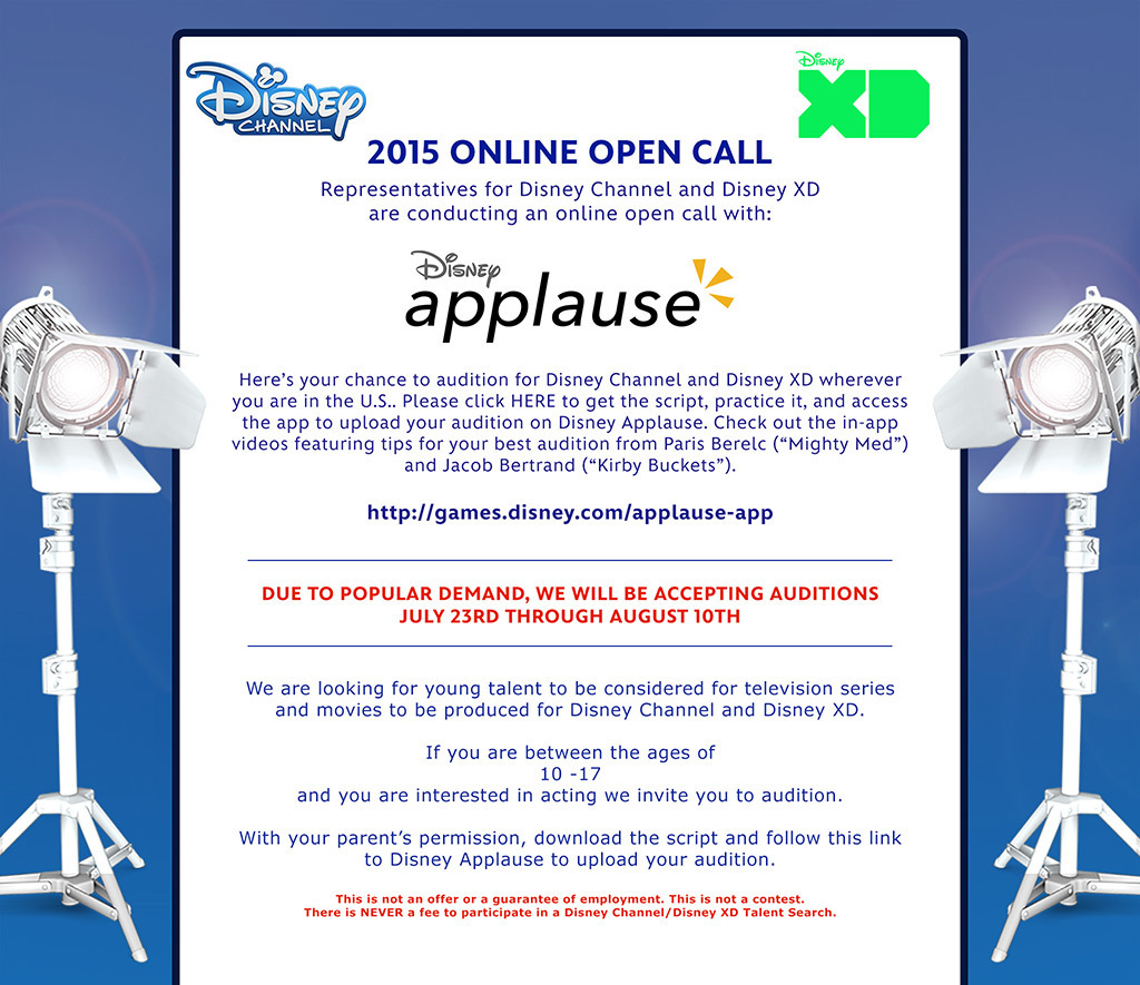 Deadline extended for Disney Channel online auditions