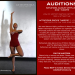Afromoda Dance Theater Auditions for Paid African American Dancers – DC, VA & MD