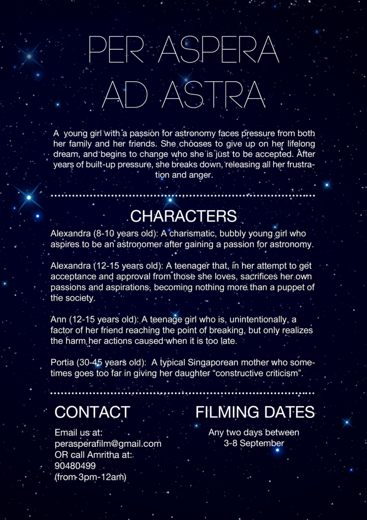 Casting Call In Singapore For Student Film