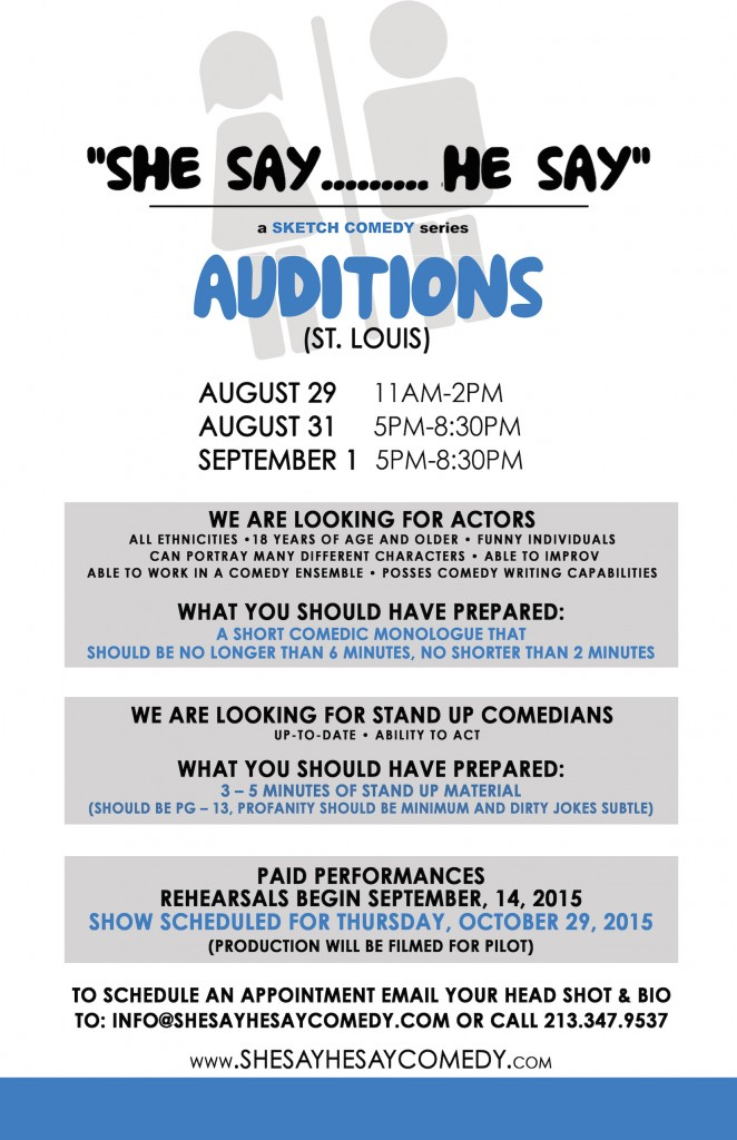 St. Louis sketch comedy auditions