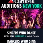 Carnival Cruise Line New York Singer-Dancers Auditions