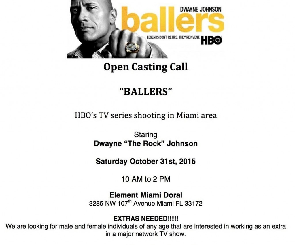 Ballers open casting call announced