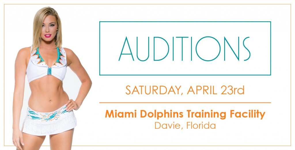 NFL cheerleaders - Dolphin auditions Miami