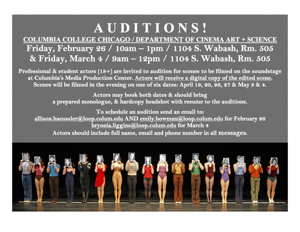 Columbia College in Chicago Casting Multiple Student Film Projects ...