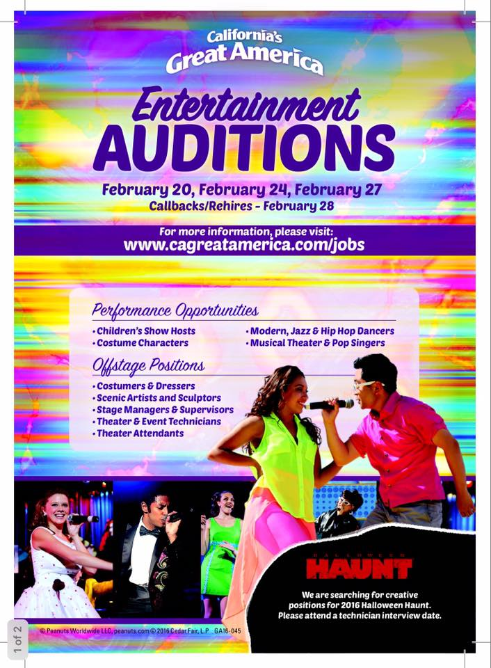 California's Great America Auditions