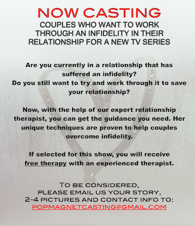 couple casting flyer