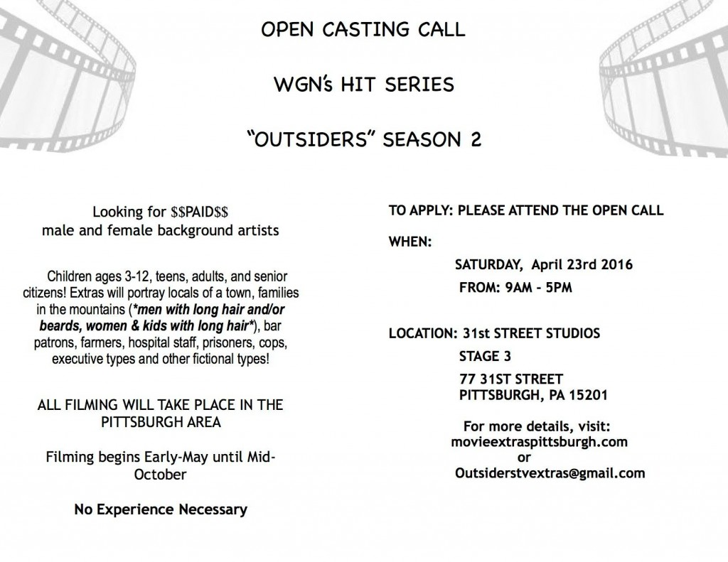 WGN Outsiders now casting in Pittsburgh PA - open call