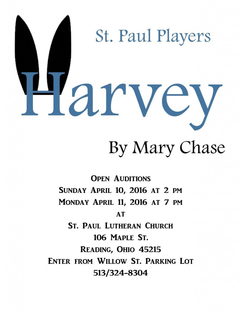 """Theater auditions in Ohio for """"Harvey"""""""