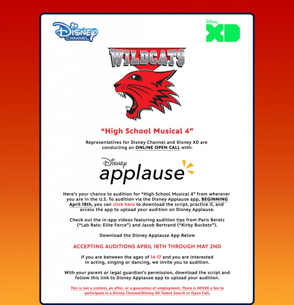 Disney Channel and Disney XD open auditions