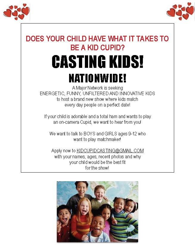 Kid cupid casting call nationwide