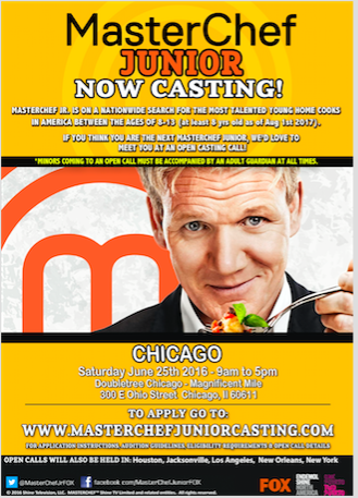 MasterChef Junior Chicago open cast call
