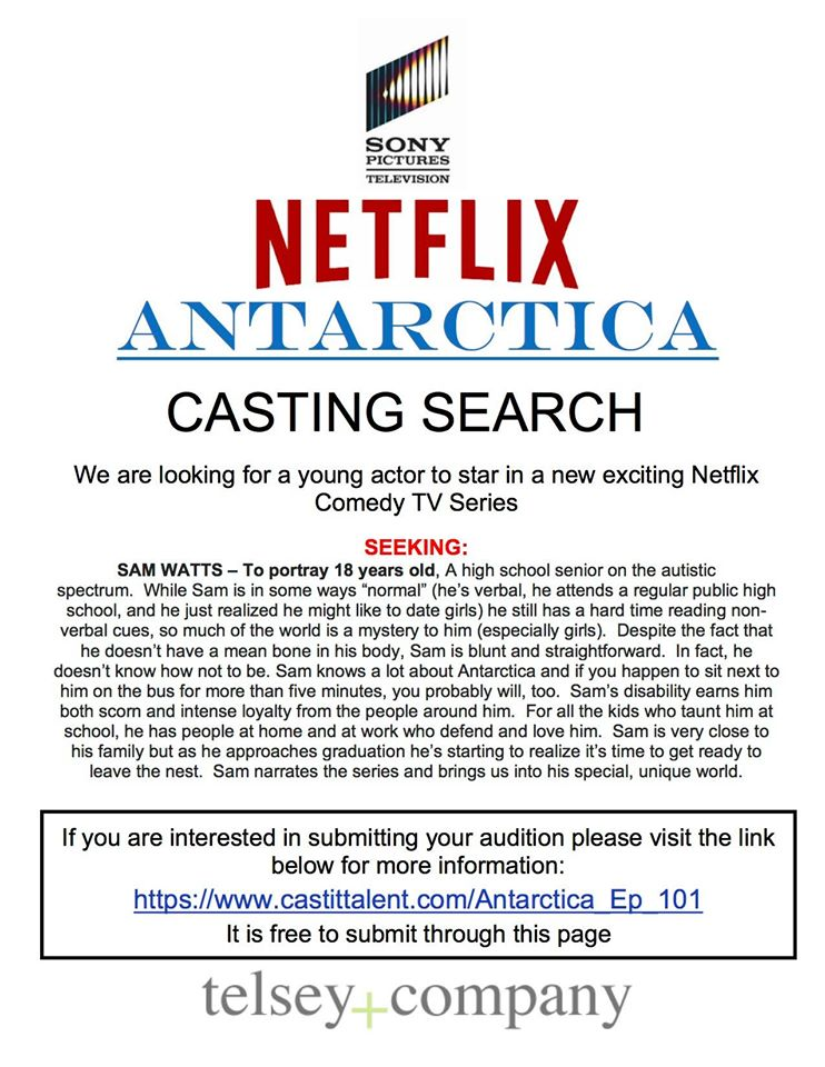 Open Auditions for Lead, Speaking Role in Netflix Upcoming Show