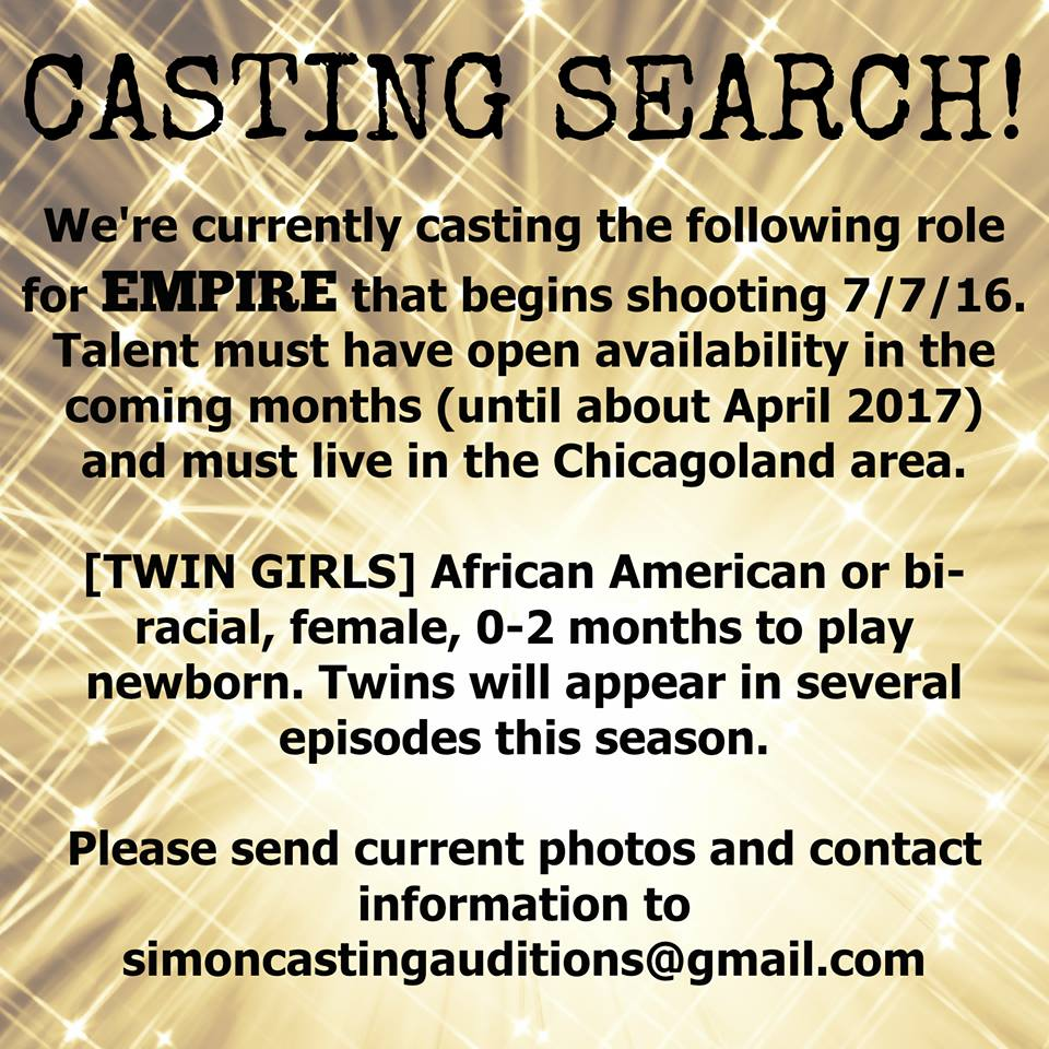 Empire casting flyer