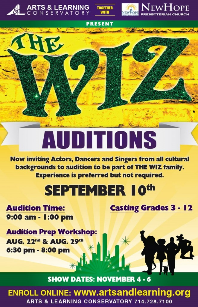 The Wiz Audition HALF PAGE