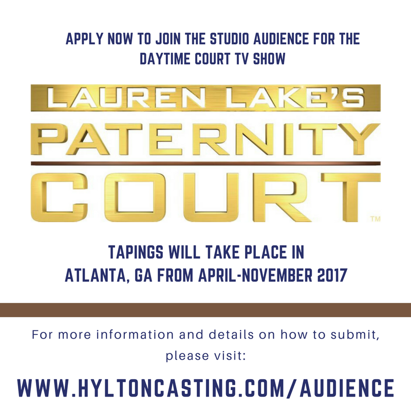 Audience casting call, paid audience job