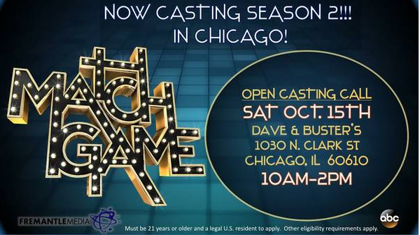 Match Game on ABC auditions Chicago