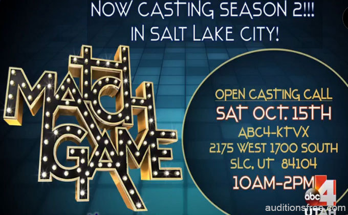 Match Game on ABC auditions in Utah
