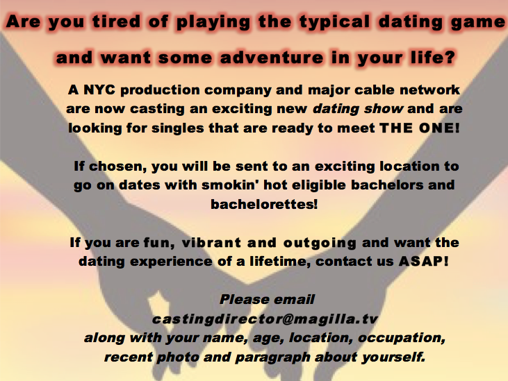 Lesbian dating show casting