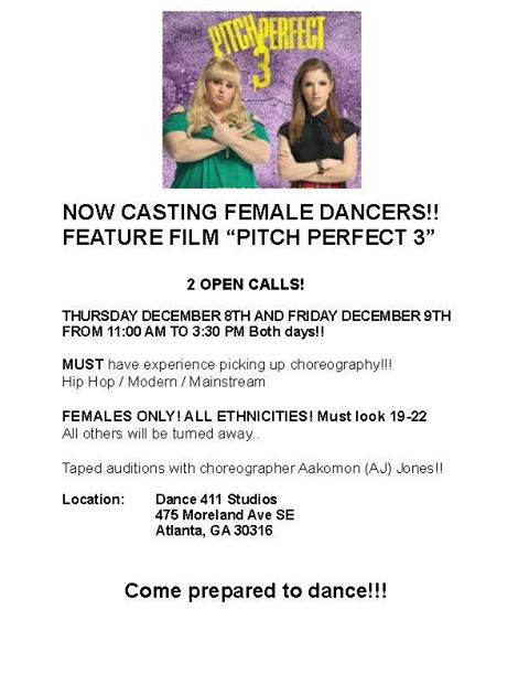Pitch Perfect 3 auditions