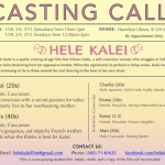 """Casting a Student Film Project in Honolulu, Hawaii, Lead and Supporting Roles in """"Hele Kalei"""""""