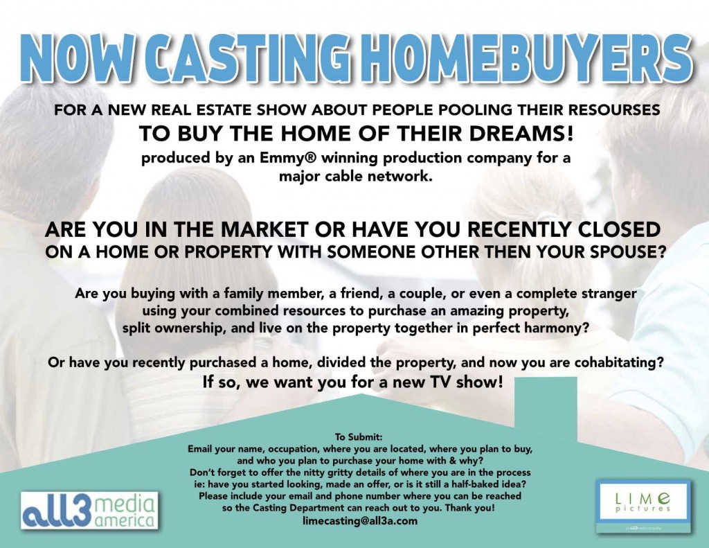 New home buyer reality show